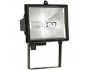 Прожектор галогенный 150W 230V R7S с лампой, черный,140*95*185мм