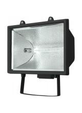 Прожектор галогенный 500W 230V R7S с лампой, черный, 180*130*260мм