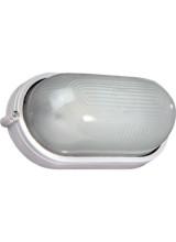 Светильник накладной овал белый 100вт (НПБ 1201 / НПП 1201)