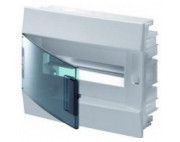 электрический щит ABB MISTRAL41 в нишу 12М белый прозрачная дверь