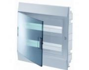 электрический щит ABB Mistral41 в нишу 24М белый прозрачная дверь