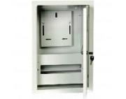 щит металлический ЩРУ В -12 под 1фазный счетчик с окном   400Х300Х155