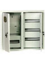 щит металлический ЩРУ 3Н -48 под 3 фазный счетчик с окном  2-х дверный  600Х500Х155