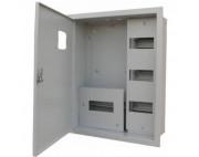 щит металлический ЩРУ 3В -24 под 3 фазный счетчик с окном   500Х400Х155