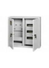 щит металлический ЩРУ 3В -36 под 3 фазный счетчик с окном  2-х дверный  500Х500Х155