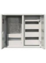щит металлический ЩРУ 3В -48 под 3 фазный счетчик с окном  2-х дверный  600Х500Х155