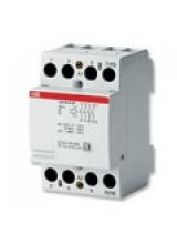 ABB Контактор модульный ESB63-40N-06 модульный (63А АС-1, 4НО), катушка 230В AC/DC