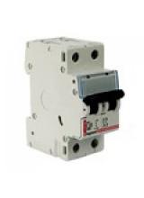 автоматический выключатель legrand 2 полюса 10 A 2M  тип С 10 A 407275