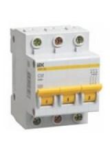 Автоматический выключатель IEK 3п 10А ВА 47-29