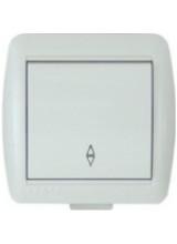 Lezard Nata белый выключатель 1 клавишный проходной