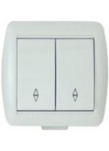 Lezard Nata белый выключатель 2-х клавишный проходной