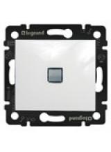 Legrand Valena Выключатель одноклавишный с подсветкой Белый 774410