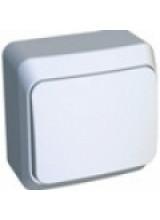 Этюд выключатель 1-клавишный накладной белый BA10-001B