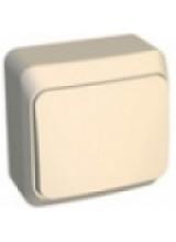 Этюд выключатель 1-клавишный накладной кремовый BA10-001K