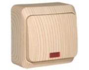 Этюд Дача Сосна выключатель 1-кл с подсветкой накладной BA10-005D