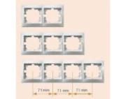 Lezard Mira рамка 4-ая вертикальная крем