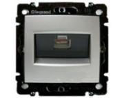 Legrand Valena алюминий розетка компьютерная RJ45 770238