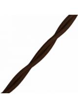 Ретро провод 2*1,5 коричневый