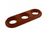 Рамка 3-я коричневая BIRONI