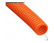 Гофра ПНД 20мм оранжевая с протяжкой