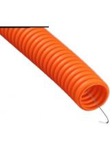 Гофра ПНД 25мм оранжевая с протяжкой