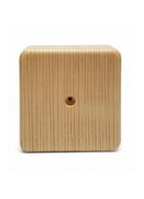 Коробка распаечная  СОСНА 75*75*23 с текстурой светлого дерева