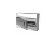 Бокс настенный Mistral41 18М зеленая прозрачная дверь (с клемм)