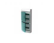 Бокс настенный Mistral41 48М прозрачная дверь (с клемм) белый