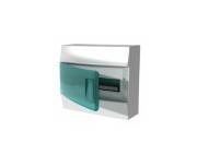 Щит настенный ABB Mistral41 12М прозрачная дверь с шиной