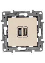 Legrand Etika розетка USB A/C слоновая кость 672336