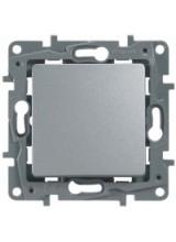 Legrand ETIKA выключатель одноклавишный алюминий 672401