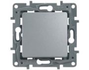 Legrand ETIKA переключатель одноклавишный алюминий 672405
