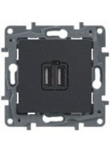 Legrand ETIKA розетка USB A/C антрацит 672636