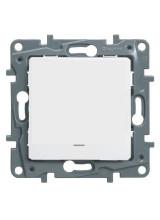 Legrand Etika выключатель одноклавишный с подсветкой белый 672203