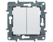 Legrand Etika выключатель двухклавишный белый 672202