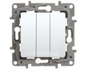 Legrand Etika выключатель трехклавишный белый 672213