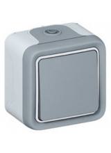 Переключатель одноклавишный 10А Legrand PLEXO серый IP55 (69711)