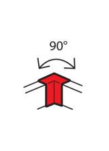 Угол внутренний Metra 90° 100х50мм 638011