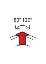 Угол внутренний Metra 85x50мм (638021)