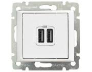 VALENA Розетка двойная USB белая 770470