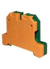 Клемма ЗНИ-35 мм.кв. ЗЕМЛЯ желто-зеленая (YZN20-035-K52)