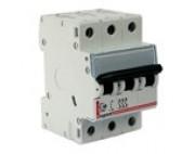 автоматический выключатель legrand 3 полюса 6 A 3M  тип С 407288