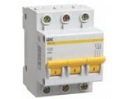 Автоматический выключатель IEK 3п 6А ВА 47-29