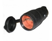 розетка переносная резиновая (каучуковая) 220в