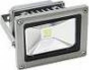 Прожектор квадратный  1LED/10W RGB 230V серый (IP65) 114*133*88мм