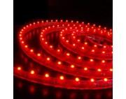 светодиодная лента влагозащищенная в силиконе 3528 IP 65 красная 4,8 вт 60 диодов на метр 210lm