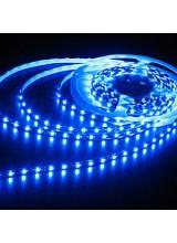светодиодная лента влагозащищенная в силиконе 3528 IP 65 синяя 4,8 вт 60 диодов на метр 210lm