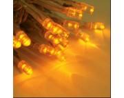Гирлянда нить 2*1,5 м ,20 нитей по 1,5 метра , прзрачный провод,желтый