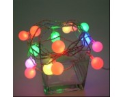 Гирлянда бахрома на маленьких шариках,3*0,5м,красн,зелен,голуб