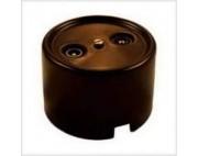 Ретро розетка TV-SAT коричневая